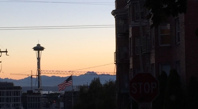 Mundane Monday: Last View of Seattle
